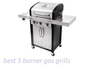 3 burner gas grills