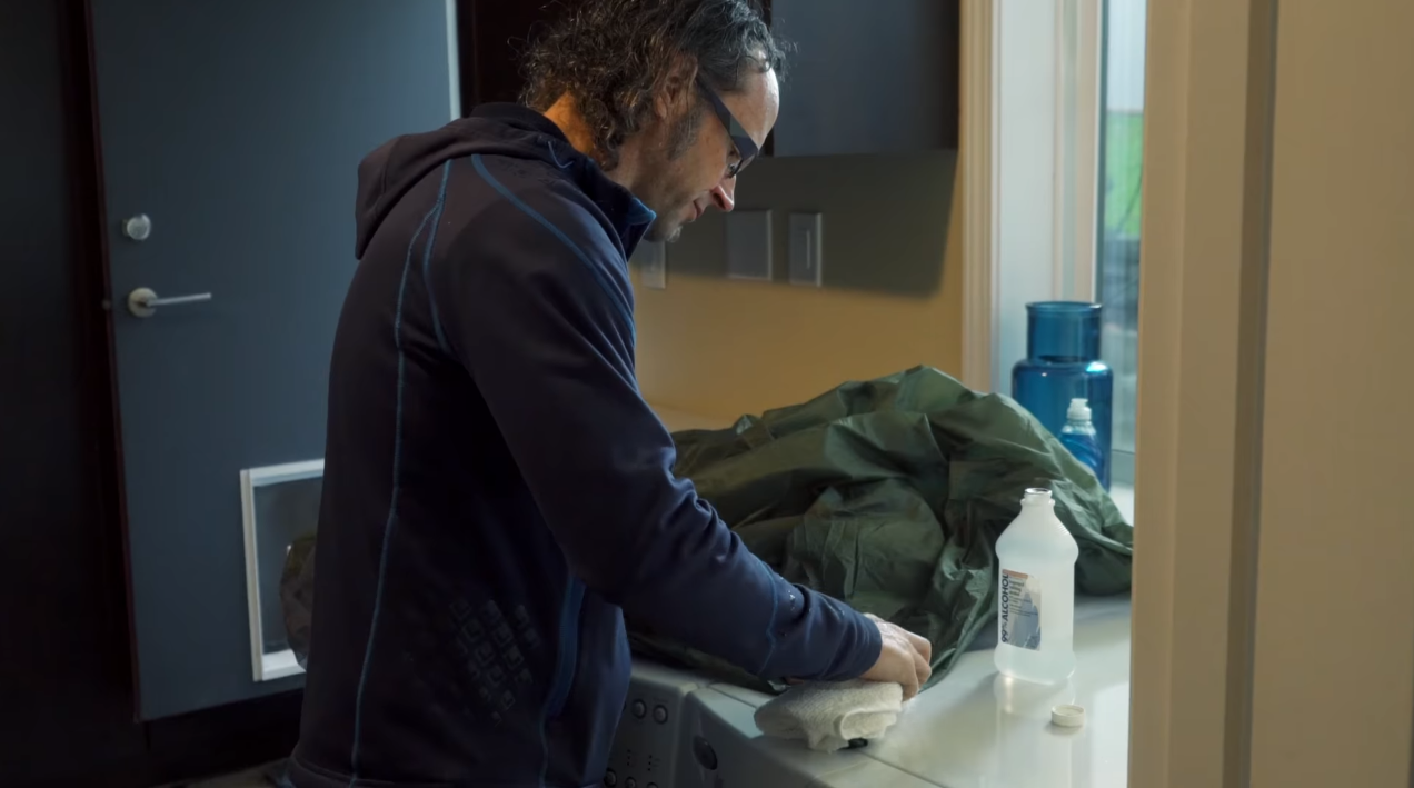 Cleaning your Tent after a Hike